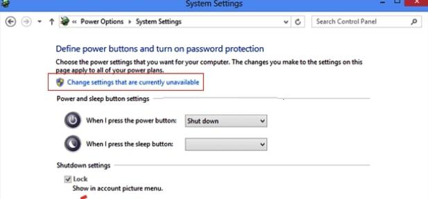 setting power option